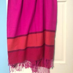 Pink Cashmere Wool Scarf
